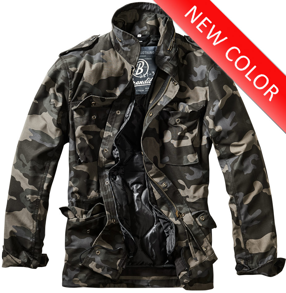 camouflage jacka herr svart