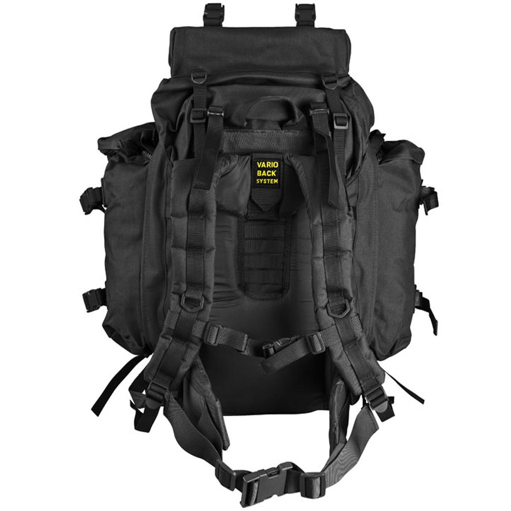 Max Fuch Raincover Militär ryggsäck 100L Svart Militära